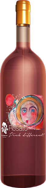 bottiglia rosato pink different